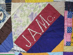 J.A.Mc. monogramed initials