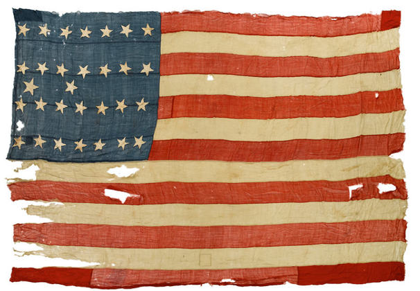 USS Constitution No.1 Ensign, 28-30 Star 1845/50