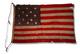 U.S. 13 Star Centennial Flag, 1876.