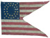 U.S. 34 Star Army Mounted Troops Guidon, 1862.