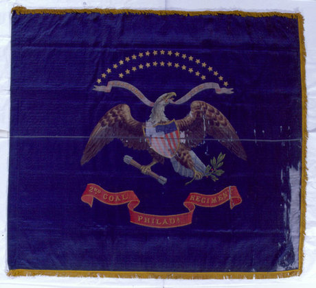 U.S. 34 Star Infantry Color, Coal Exchange Reg.