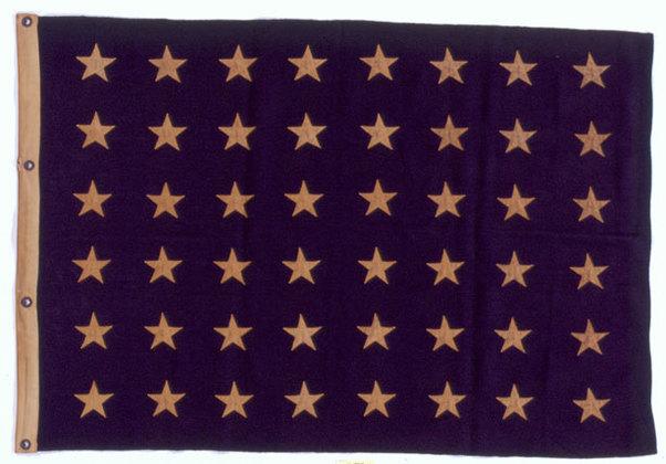 U.S. 48 stars Union Jack - U.S.S. Phelps.