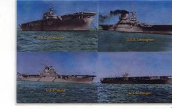 Four WWII Aircraft Carriers