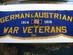 German & Austrian War Veterans, -  Parade Banner