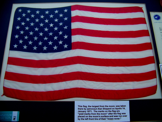 U.S. 50 Star Apollo 14 Flag - EVA Moon Flag 1971.