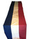 U.S. banner, blue, white & red bunting.