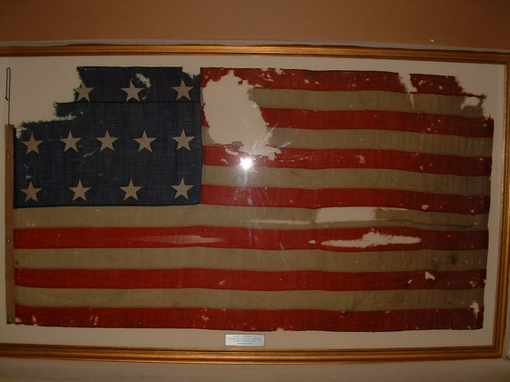 U.S. 13 Star Navy Boat Flag - Fort Fischer 1864.
