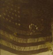 Enlarged Image Detail of Flag