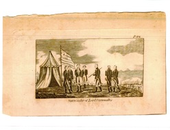 Weems, Life of Washington, 1815, Plate 114, The Surrender of Cornwallis, flag with large center star