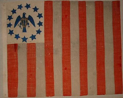 US Revenue-Marine Ensign & Custom House Flag 1790s