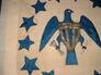 Eagle hoist wing & stars detail