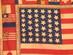 U.S. Flag Quilt Panel, 39 stars.