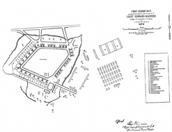 1878 Plan showing location of flagpole