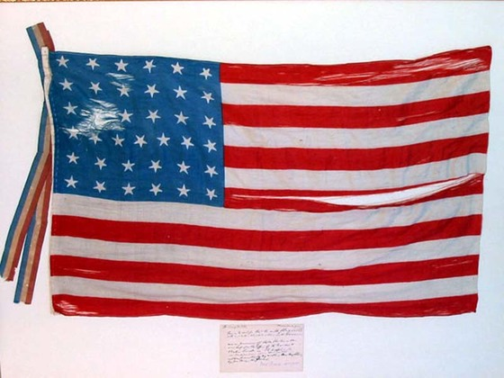 37 Star U.S. Flag, Abraham Lincoln\'s Funeral.