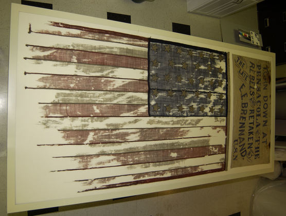First Captured U.S. 33 Star Flag, Pensacola, Fla.