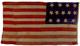 U.S. 13 Stars flag - Privateer Minerva.