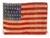 U.S. 34 Star Flag - Kansas Statehood, 1861.