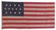 U.S. 13 Star Flag, 1850-1880.