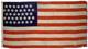 U.S. 37-Star Flag - Nebraska's Statehood.