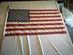 U.S. flag, 50 stars, 1960s.