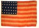 U.S. 34 Star flag - Battle List Flag.