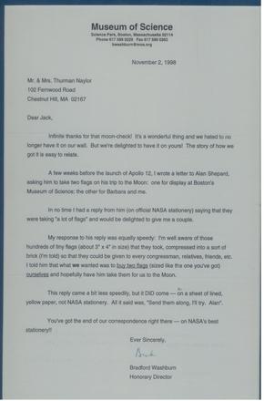 ZFC2595 - Letter Washburn to Naylor