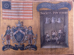Pewterers' banner 1788, NY Histroical Society