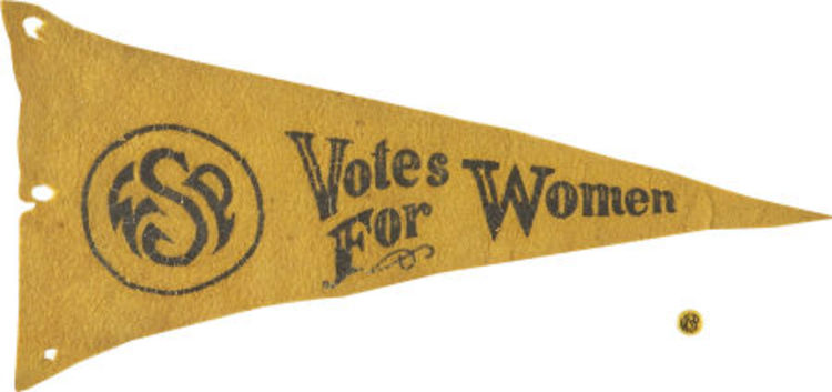 A Woman Suffrage Party Pennant, 1909.