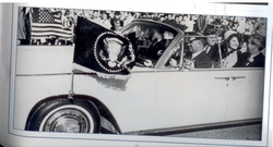 JFK Flags on Limo in Ft. Worth