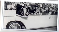 JFK Flags on Limo in Ft. Worth -2