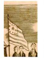 Weems, Life of Washington, 1815, Plate 114, The Surrender of Cornwallis, flag with large center star , detail