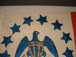 Eagle head & stars detail