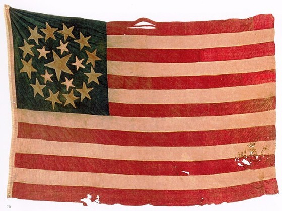 U.S. 18 Star Exclusionary Flag.