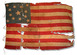 U.S. 13 Star Flag - early all cotton flag.