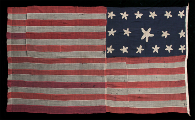 U.S. 17 Star, 17 Stripe Privateer Ensign.