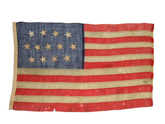 U.S. 13 stars 4-5-4 pattern Flag, Merchant Ensign.